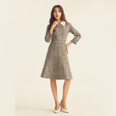 [19FW신상] 피티드 웨이스트 트위드 드레스 ITJAZOP960