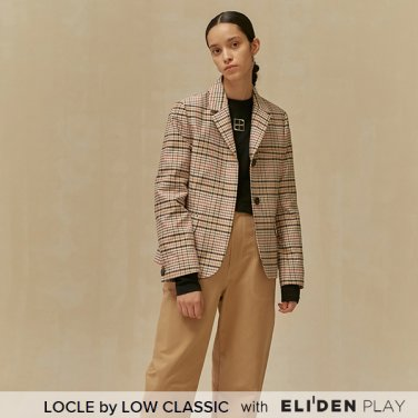 [로우클래식] 19 FALL LOCLE Stitch point blazer_beige check (Z3LCI6JK103)