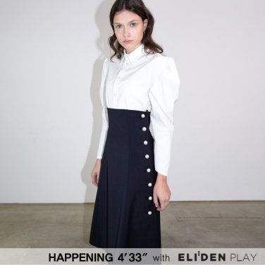 [HAPPENING 433] 20SS PEARL BUTTON FLARE ONEPIECE_NAVY (HP202OP02)
