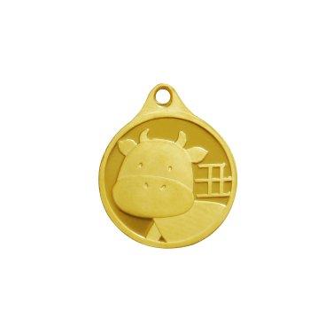 소띠 목걸이 메달 3.75g
