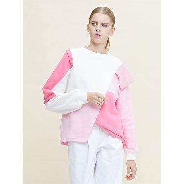 [라이] 쭈리원단 절개 컬러믹스 핑크