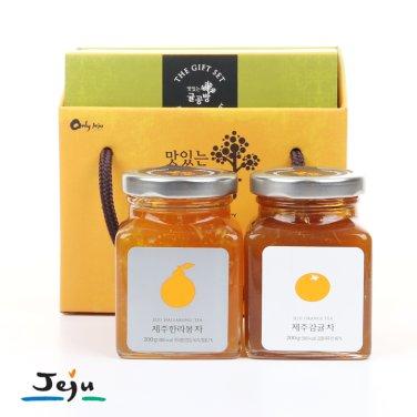 ◆제주 귤공방 차 선물세트(제주 한라봉차 200g+제주 감귤차 200g)/무료배송