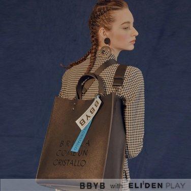 [비비와이비][러블리즈 이미주착용] BBYB MARCE Unisex Tote Bag (Glow Black) (09I3110B5K)