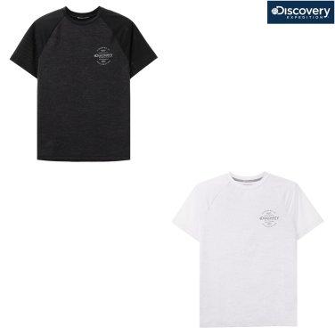 남성 리플렉티브 프린트 라운드 티셔츠 DMRT70831