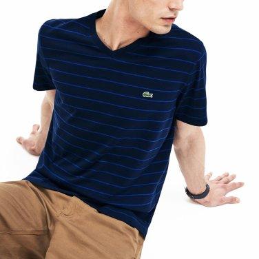 [엘롯데] 남성 브이넥 스트라이프 반팔 티셔츠 LCST TH3243-19B9EZ