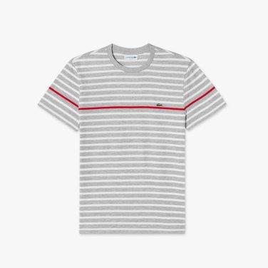 [엘롯데] 남성 스트라이프 반팔 라운드 티셔츠 LCST TH7015-19B5MD