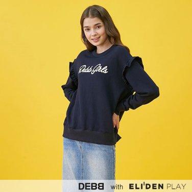 [뎁][배윤경 착용] 뎁걸 러플 스웨트셔츠 (2color) (DBCMB2017M)