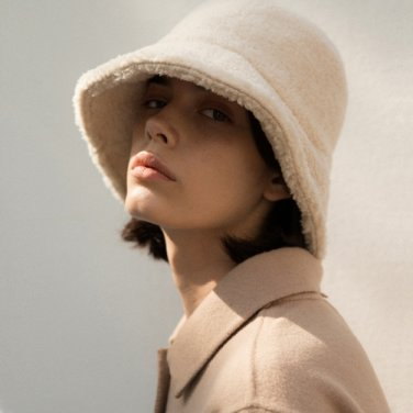 Shearling Bucket Hat - Cream