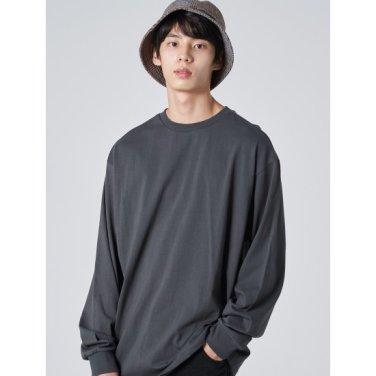 남성 애쉬 코튼 그래픽 레터링 티셔츠 (459841LQ34)