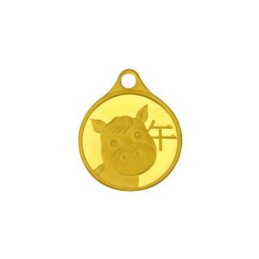 말띠 목걸이 메달 3.75g