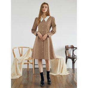 [에프코코로미즈] shirring check dress