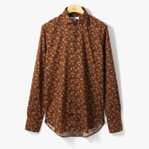 [ORIAN]VINTAGE CLASSIC SHIRT (FLOWER) BROWN/OR92M40004A50