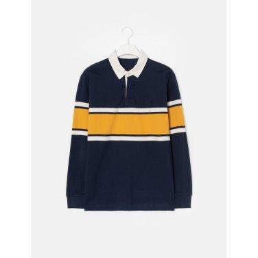 19SS  네이비 스트라이프 럭비 칼라 티셔츠(BC9241C13R)