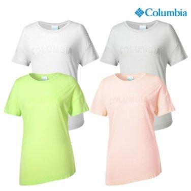 컬럼비아 여성 기능성 라운드 반팔티 YL6736