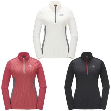 솔리드 여성 짚업 티셔츠 Ⅱ / 등산티,긴팔 (DWF17212)
