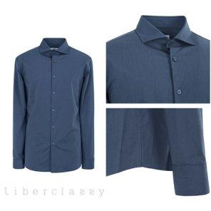 리버클래시(DJ) 네이비 프리미엄신축 와이드카라 드레스 셔츠 LGS31401