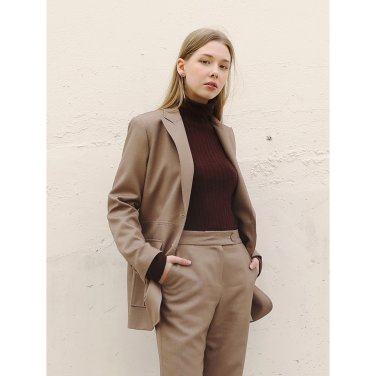 Slit Cozy Jacket _ Brown