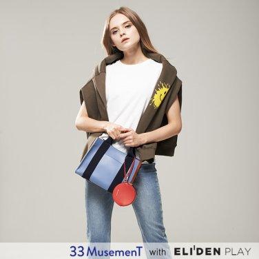 [33뮤즈먼트] 33 MusemenT  33 Cube Bag Small Blue (MB-1909-01S)