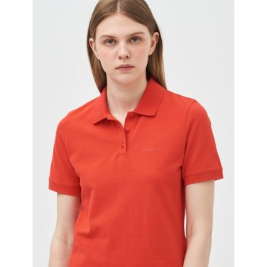 [Online Exclusive] 레드 베이직 로고 프린트 피케 티셔츠 (BF9342N076)