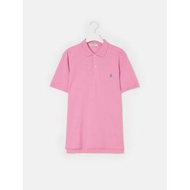 19SS  Unisex 핑크 솔리드 칼라 티셔츠(BC9242A01X)