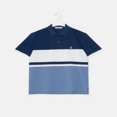 S/S 블루 컬러 블록 칼라 티셔츠(BC9342A14P)