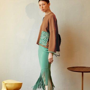Kaily Fringe Skirt_Citrus Green (JC19FW2KailSKCG)