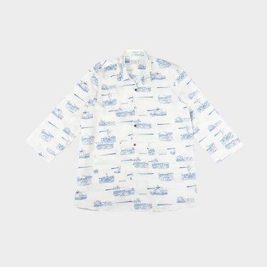 조선 레트로 썸머 롱셔츠