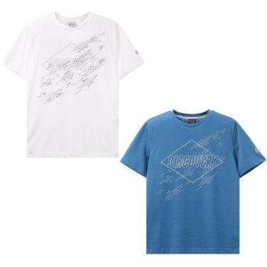 남성 빅로고 프린트 라운드 티셔츠 DMRT51831