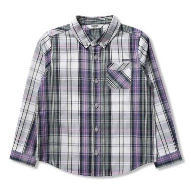 남아남아 민트블루 체크 셔츠(R1912B321_22)