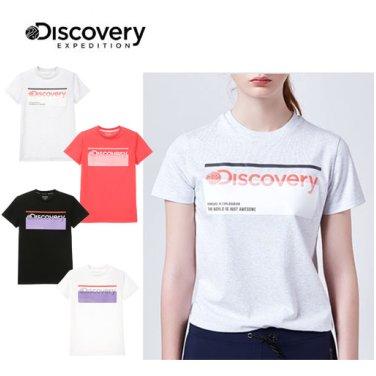 [디스커버리]여성 박스로고 티셔츠 DWRT81831