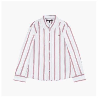코튼 스트라이프 긴소매 셔츠(TBMT1HCL38A0)