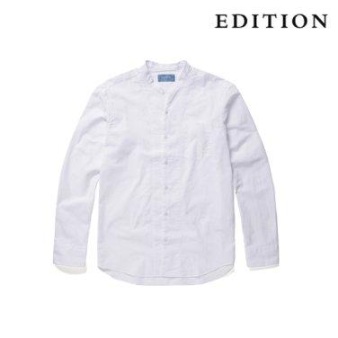 헨리넥 변형 카라 화이트 셔츠 (NEZ3WC1639)