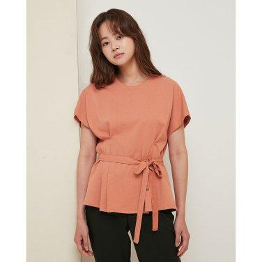 허리턱 포인트 벨트 티셔츠 EK3CH767