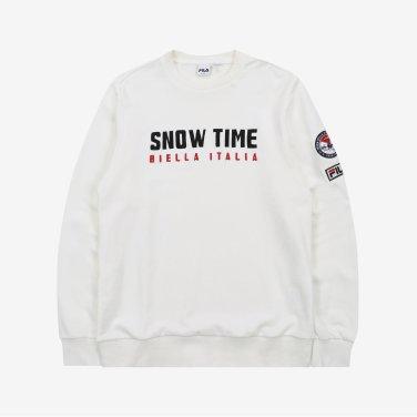 (공용) SNOW TIME 맨투맨 FS2POA4019X_OWH (FS2POA4019X_OWH)