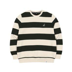 와이드 스트라이프 스웨트 셔츠 1615 그린