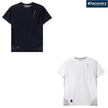 남성 메쉬 하이브리드 라운드 티셔츠 DMRT6F831