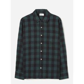 브리쉬드 깅업 가라지 셔츠 그린 / Garage Shirt in Green Brushed Gingham / REF 21192