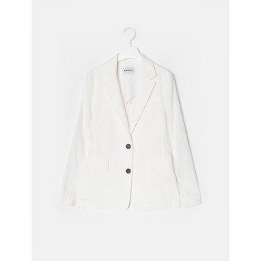 아이보리 리넨 베이직 싱글 재킷 (BF9311C010_)