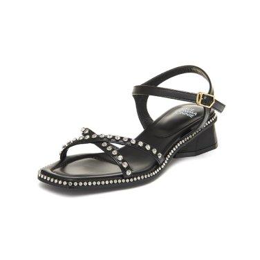 X strap cubic sandal(black) DG2AM19044BLK / 블랙