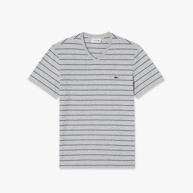[엘롯데] 남성 브이넥 스트라이프 반팔 티셔츠 LCST TH3243-19B7QP