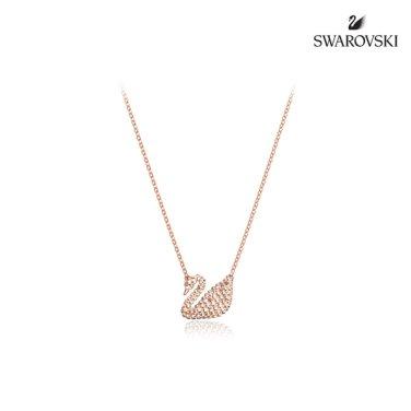Iconic Swan 로즈골드 네크리스 5368988