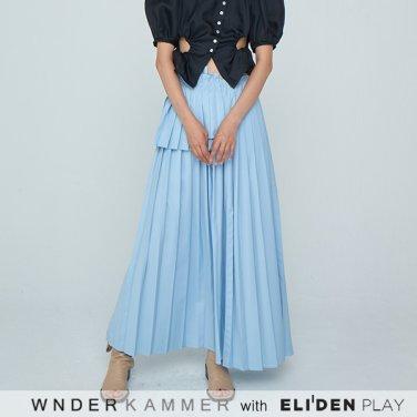 [분더캄머:WNDERKAMMER] 20SS Long Pleats Skirt Light Blue (WK0S3-LPSK010)