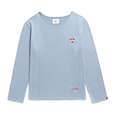 NOMANTIC LOGO BOAT NECK T-SHIRTS BLUE