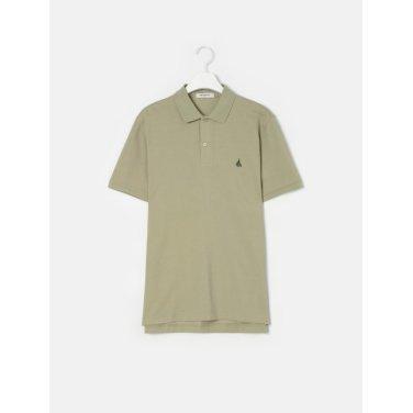 19SS  Unisex 올리브 솔리드 칼라 티셔츠(BC9242A01J)