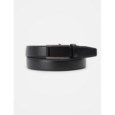 (남) 블랙 흑착 스카시 자동 벨트 (BE9182T035)