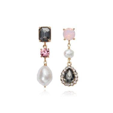 [피버리쉬앤너티] BAROQUE POP TRIPLE BLACK DIAMOND EARRINGS (BP14E2)
