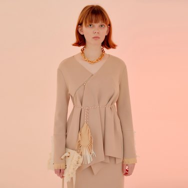Anna Zipper Top_Beige (JC20SSTP05BB)