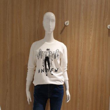 깔끔한 프린트 티셔츠 VV8LT58-EL