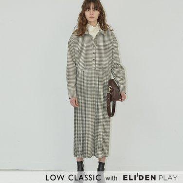 [로우클래식] 19FW PLEATED DRESS_CHECK (Z3LCI6DR001.GY)