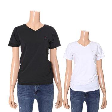 여성 면혼방 베이직 브이넥 티셔츠 TUMT1KOE05D0